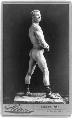 "Eugen Sandow (April 2, 1867 – October 14, 1925), born Friedrich Wilhelm Müller, was a Prussian pioneering bodybuilder known as the ""father of modern bodybuilding""."