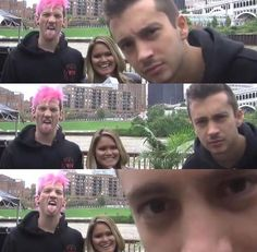 He is staring at that camera like aliens are watching and Josh is the one who believes in them