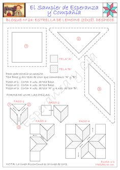 Helpful visual for quilting Easy Quilt Patterns, Paper Piecing Patterns, Patchwork Patterns, Patchwork Quilting, Quilting Rulers, Hexagon Pattern, Hexagon Quilt, Pattern Blocks, Quilting Templates