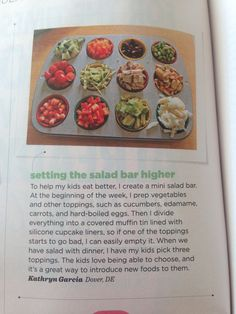 Setting the salad bar higher April 2013 family fun magazine