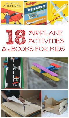 Love these paper airplanes, plane books & crafts for kids!  Perfect if you'll be flying with kids for vacation too.