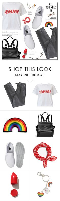 """Celebrate Pride Month!"" by fashion-bea-16 ❤ liked on Polyvore featuring Lafayette 148 New York, Miss Selfridge, Givenchy, Vans, rag & bone, NARS Cosmetics, pride and polyvoreeditorial"