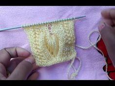 Easy Two Color Knitting Pattern Knitting Stiches, Cable Knitting, Knitting Videos, Crochet Videos, Baby Dress Patterns, Lace Patterns, Stitch Patterns, Knitting Designs, Knitting Patterns Free