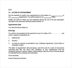 Sales Appointment Letter | Pinterest | Appointments