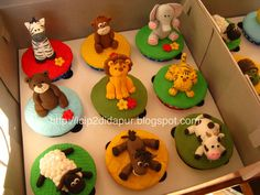 Jungle animal cupcak