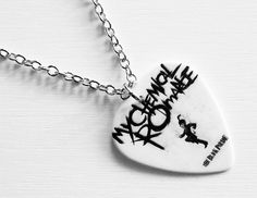 Guitar Pick Necklace My Chemical Romance Necklace by musicshop, €9.50