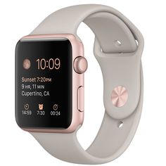 Buy Apple Watch Sport 42mm Rose Gold Aluminum Case with Stone Sport Band - Apple