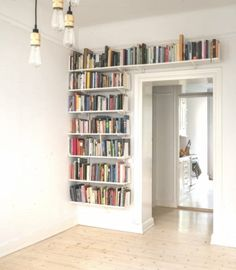 bookshelves for small spaces - bookshelves ; bookshelves in bedroom ; bookshelves in living room ; bookshelves for small spaces ; Home Library Design, Home Interior Design, House Design, Bookshelves For Small Spaces, Unique Bookshelves, Bookshelves Kids, Bookcase, Home Libraries, House Rooms