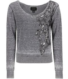 Sparkles! Wonder if I can DIY a cute gray top like this with Sequin Applique?