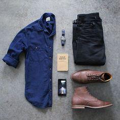 Boots: @junkardcompanyDenim: @japanbluejeansShirt: @jcrew