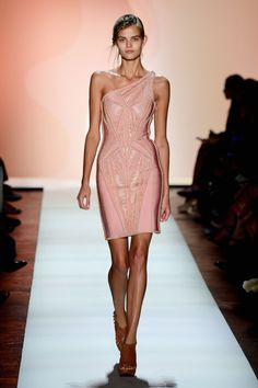 New York Fashion Week: Herve Leger Spring/Summer 2016. Click through to see more: http://nyfw.com/herve-leger-by-max-azria.