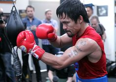 Manny Pacquiao switches training focus from stamina to speed Timothy Bradley, Top Rank Boxing, Winning Boxing, Pa C, Manny Pacquiao, Boxing Gloves, Greatest Hits, Muay Thai, Social Media