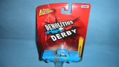 JOHNNY LIGHTNING R25 1:64 SCALE DEMOLITION DERBY BLUE #82 WINCHESTER AUTO RYAN CHIVERS 1967 PLYMOUTH FURY II by TOMY. $9.99