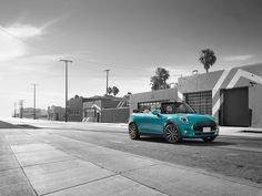 Known for its sunny outlook, even on cloudy days. Mini Cooper Convertible, Cloudy Day, Mini Coopers, Minis, Cars, Vintage, Display, Backgrounds, Autos