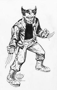 Wolverine commission by John Byrne. 2007.
