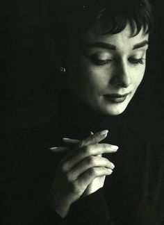 {Audrey Hepburn} photographed by Cecil Beaton, 1954.