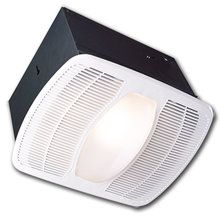 View the Air King AK100L 100 CFM HVI Certified 2.5 Sone Deluxe Round Exhaust Fan with Overhead Light and Deluxe Collection at LightingDirect.com.