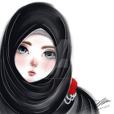 Black Hijab Beauty by Mylucidheartwork.deviantart.com on @DeviantArt