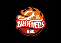 2 Brothers BBQ, logo by D!
