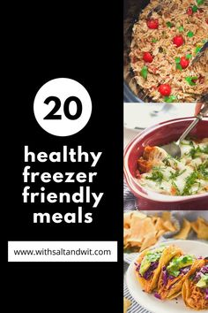 If you are looking for inspiration for Healthy Freezer Meals from casseroles to crock pot that are perfect for busy families! Freezer Friendly Meals, Slow Cooker Freezer Meals, Healthy Freezer Meals, Healthy Weeknight Dinners, Healthy Meal Prep, Easy Clean Eating Recipes, Easy Healthy Recipes, Easy Dinner Recipes, Vegan Veggie Burger