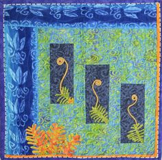 "A fern in Hawaii Volcanoes National Park, quilt by Ann Weaver, from the special exhibit ""National Parks: Celebrating 100 Years.""  2015 Houston IQF."