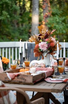 Fall Home Decor, Autumn Home, Cider Cocktails, Healty Dinner, Table Setting Inspiration, Brunch Table, White Dinnerware, Beautiful Dining Rooms, Thanksgiving Feast