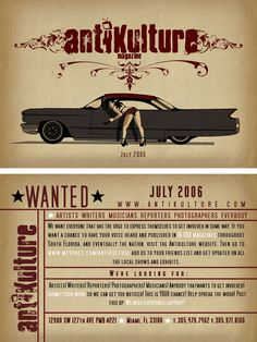 antikulture wanted flyer by thebottom
