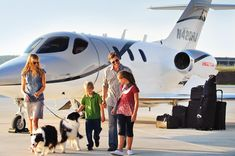 Room for Everyone  The HondaJet has room for the family, luggage, golf clubs, and even man's best friends.