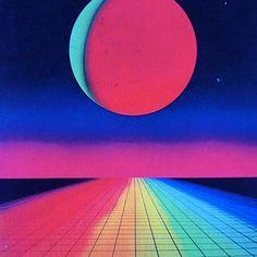 Sci-fi trip. #vaporwave #retro #space