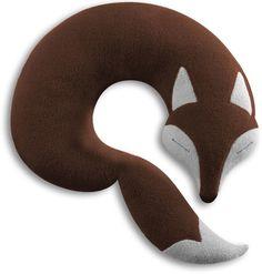 Neck pillow Peter the fox - chocolate   Abodee