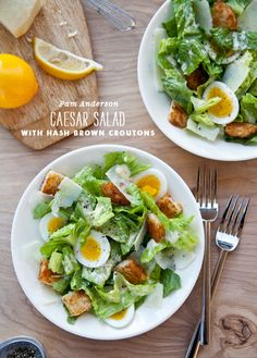 Caesar Salad With Hash Brown Croutons
