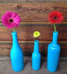 Painted Wine Bottle Decor
