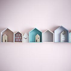 On craque pour cette jolie id e des casiers en forme de for Deco murale zodio