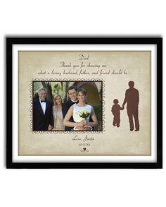 Gepersonaliseerde huwelijksgeschenk, vader van de bruidegom geschenk, bedankje geschenk voor ouders van bruidegom aangepaste afdrukken 11 x 14 met foto