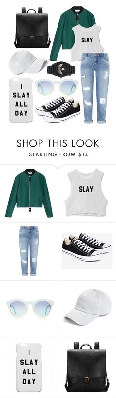 """Slay~"" by caeshana on Polyvore featuring Marni, Miss Selfridge, Converse, rag & bone and adidas"