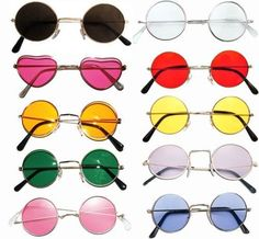 b47c0319792 John lennon style sunglasses shades 10 varieties 60s 70s hippy fancy dress