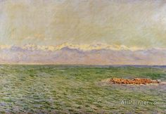 Claude Monet The Sea And The Alps oil painting reproductions for sale