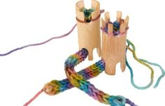 Wooden knitting toy great waldorf toy