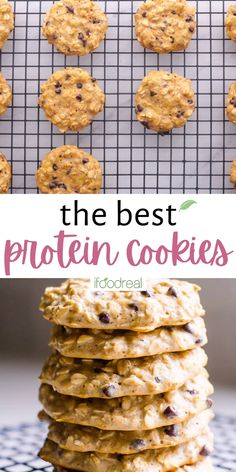 These Protein Cookies contain just 5 ingredients, are naturally sweetened and super simple to prepare! Best of all, this protein cookie recipe is easy to customize to your dietary and flavor requirements! Protein Cookie Recipe, Protein Cookies, Healthy Cookies, Cookie Recipes, Healthy Snacks, Snack Recipes, Healthy Recipes, Caramel Pudding, Bakers Gonna Bake