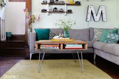 This could be your new coffee table or you can keep it by the sofa as a sort of accent piece.