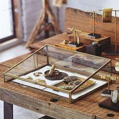 Beautiful brass jewelry box, perfect show display idea.