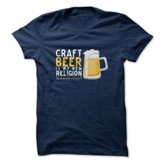 Craft Beer Religion T Shirts, Hoodies. Check Price ==► https://www.sunfrog.com/LifeStyle/Craft-Beer-Religion.html?41382