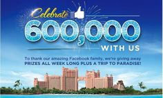 Atlantis is celebrating 600,000 fans on their Facebook page and giving you the chance to win a trip to go there. Also, you could instantly win a beach tote and towel set. This has a …