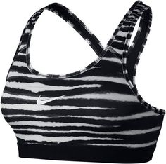 Nike Pro Classic Tiger Sports Bra , Black