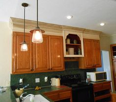 Project: making an upper wall cabinet taller (kitchen) – Front Porch Cozy Plastic Kitchen Cabinets, Kitchen Cabinet Shelves, Kitchen Soffit, Above Kitchen Cabinets, Kitchen Cabinet Remodel, Modern Kitchen Cabinets, Kitchen Cabinet Design, Kitchen Flooring, Kitchen Furniture