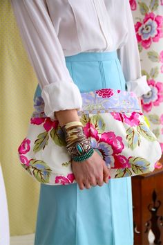 Amy Butler's Gypsy Caravan Fabrics and Charm Clutch