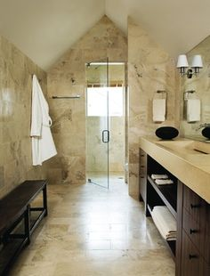 1000 images about bagni in travertino on pinterest for A bathroom item that starts with p
