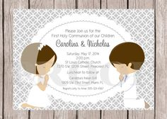 PRINTABLE Personalized First Holy Communion by ciaobambino on Etsy, $12.00