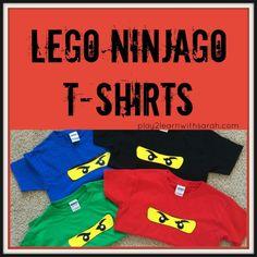Lego Ninjago T-Shirts - the perfect gift for guests at your Lego Ninjago kids birthday party Lego Ninjago Cake, Ninjago Party, Lego Shirts, Birthday Party Themes, Ninja Birthday Parties, 7th Birthday, Kid Parties, Birthday Ideas, Party Gifts