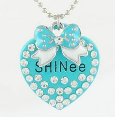 KPOP SHINee diomand heart necklace
